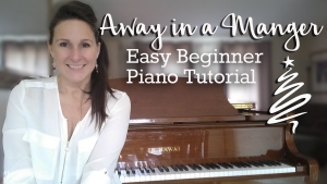 Learn to play Away in a Manger for beginner piano