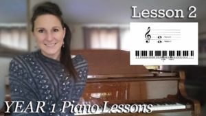 beginner piano lessons Learning C and G