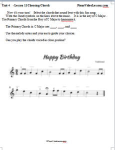 learn to play happy birthday on piano for beginners