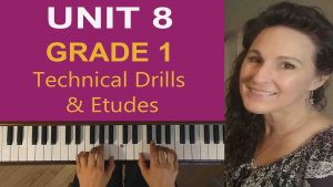 Grade 1 Piano Lessons Technical Drills and Etudes